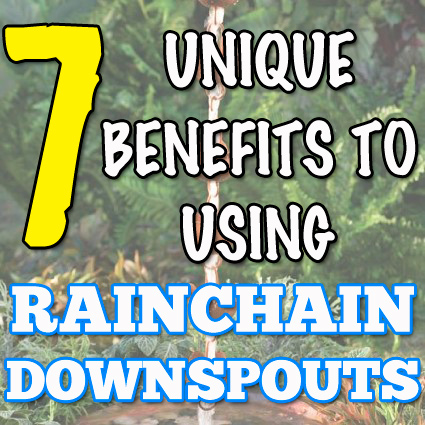 Unique Benefits to Using Rain Chain Downspouts
