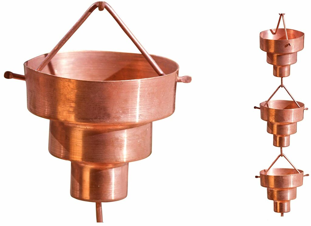 4. Monarch Pure Copper Bamboo Rain Chain