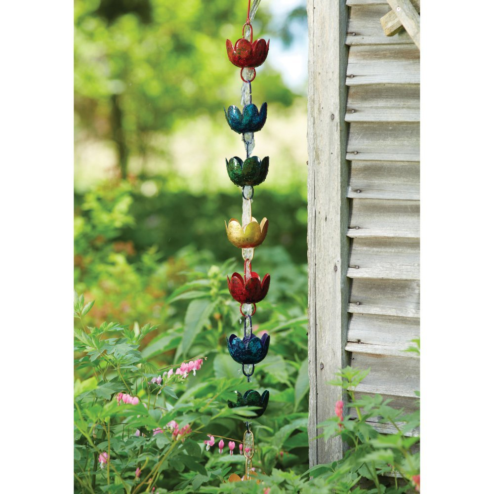 Ancient Graffiti Lily Cups Rain Chain