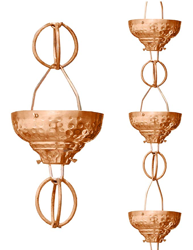 Monarch Eastern Hammered Cup Rain Chains