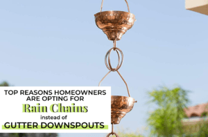 rain chains instead of gutter downspouts