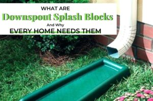 Downspout Splash Block