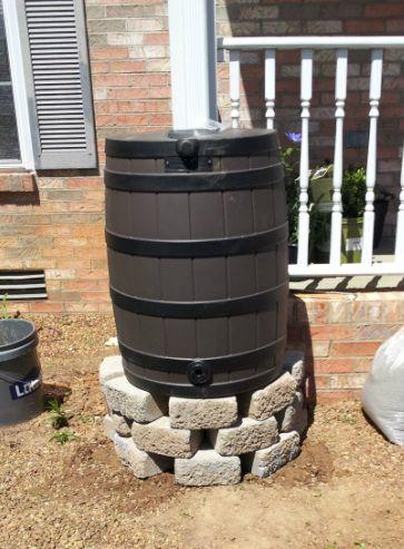 Rain Barrel on DIY Stand