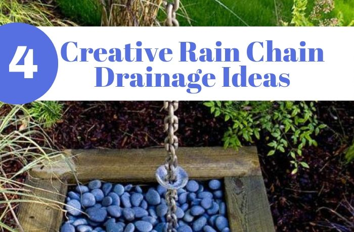 Rain Chain Basin and Drainage Ideas