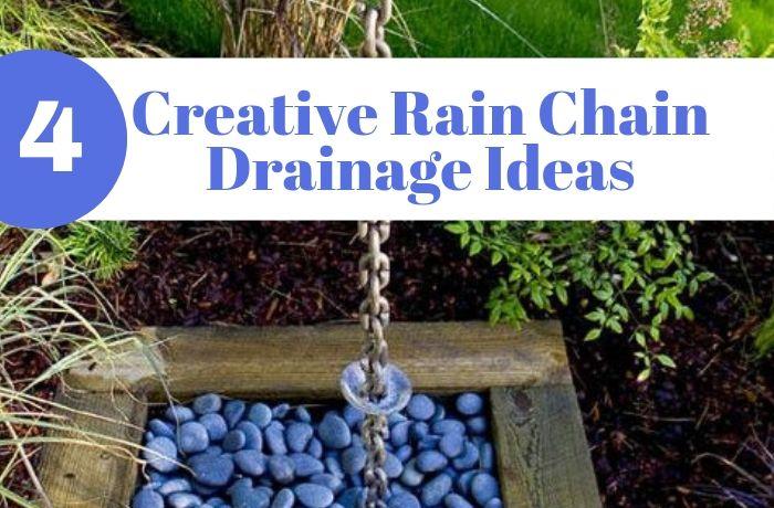 Rain Chain Basin and Drainage Ideas