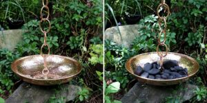 Copper Rain Chain Basin