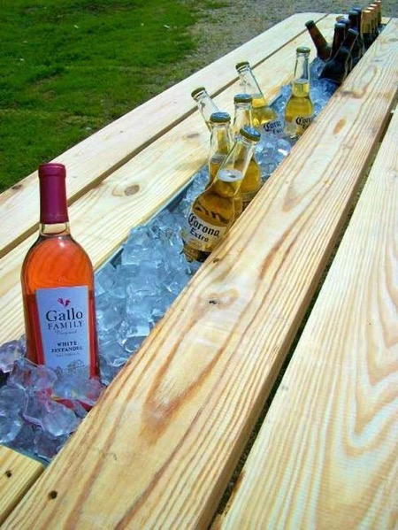 Keep drinks cold with this cool rain gutter cooler