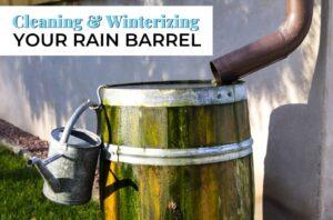 Winterizing your Rain Barrel